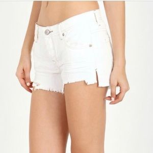 Free People White Jeans Shorts Size 27